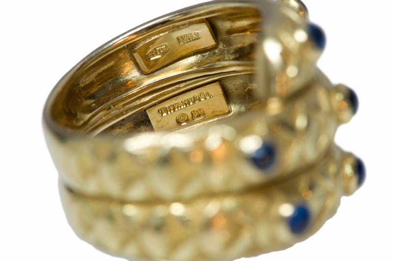 Tiffany & Co. Cabochon Sapphire 18K Gold Ring