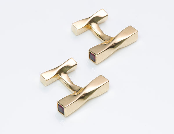 Tiffany & Co. Gold Cufflinks Twist