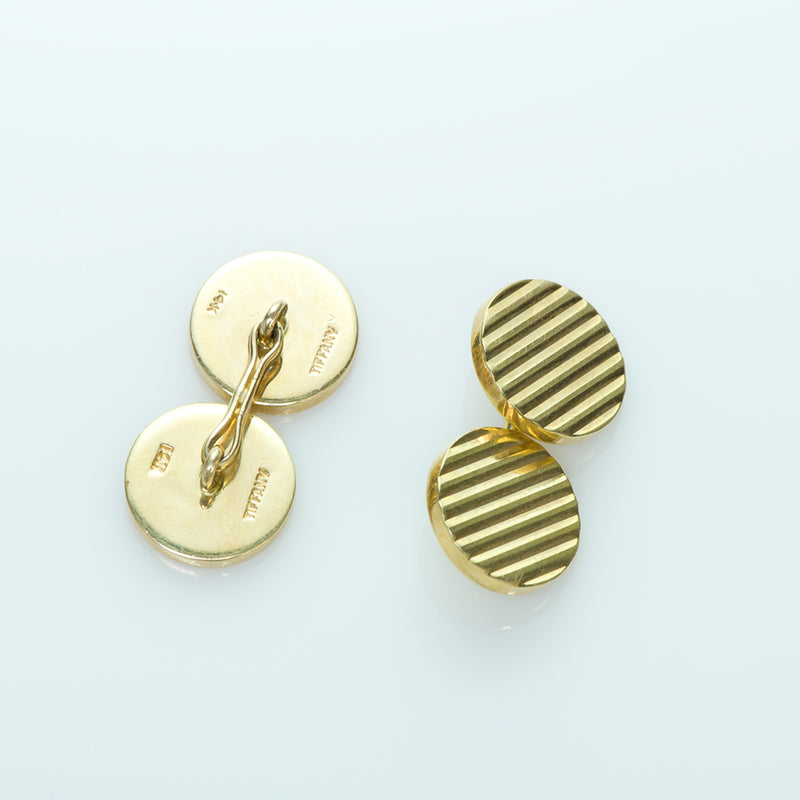 Tiffany & Co. 14K Yellow Gold Vintage Cufflinks