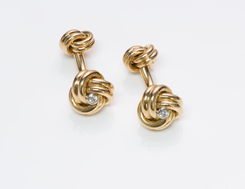 Tiffany & Co. Knot Diamond Cufflinks