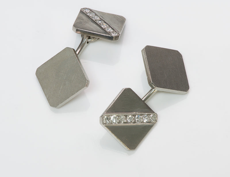 Tiffany & Co. Platinum Diamond Cufflinks