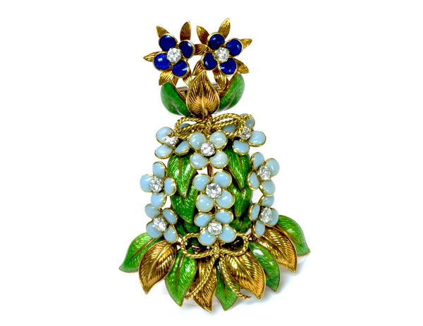 Tiffany & Co. Diamond & Enamel Brooch