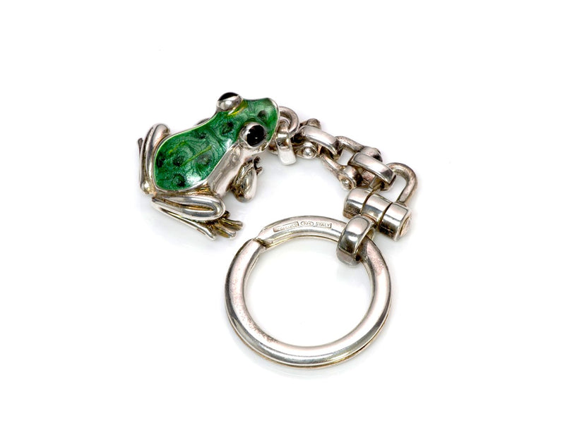 Tiffany & Co. Sterling Enamel Frog Key Chain