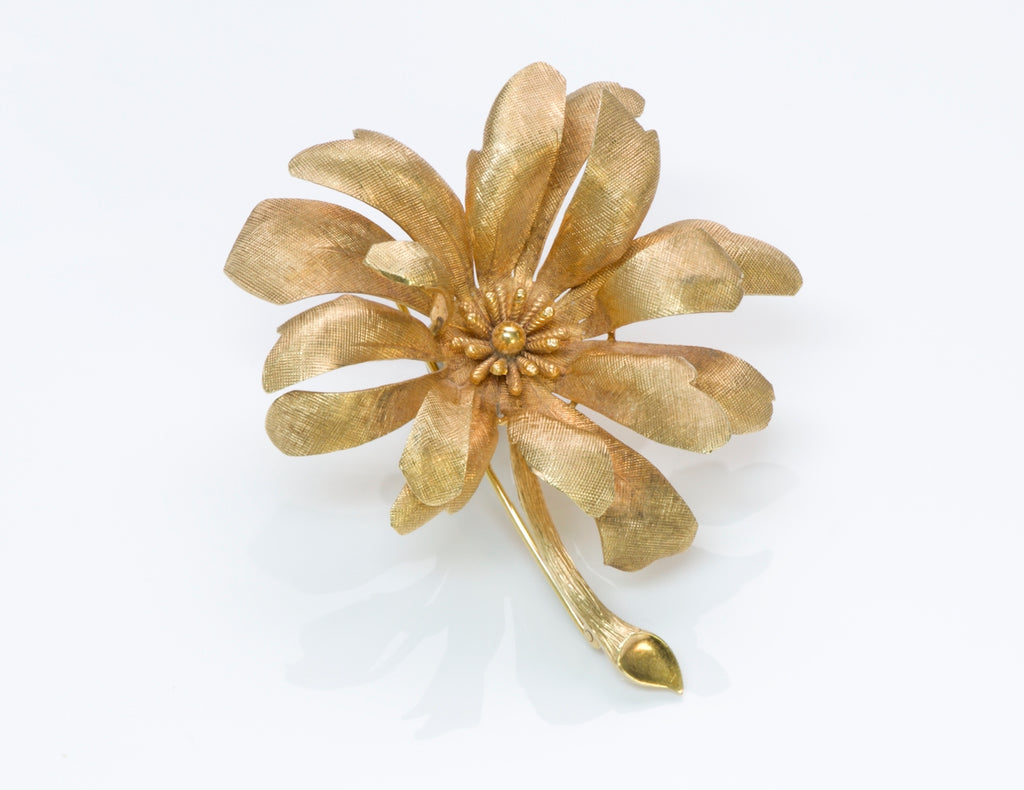 0799d599933f5 Tiffany & Co. Gold Flower Brooch