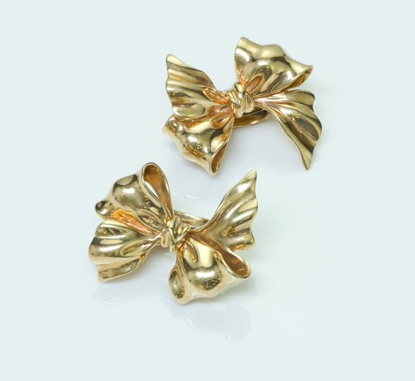 Tiffany & Co. Vintage Gold Bow Earrings