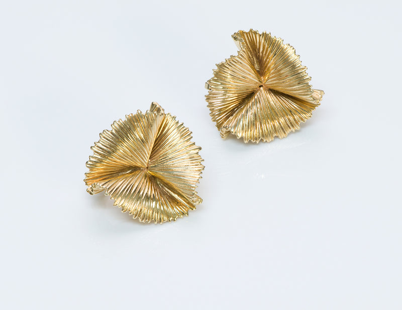 Tiffany & Co. Gold Fan Earrings