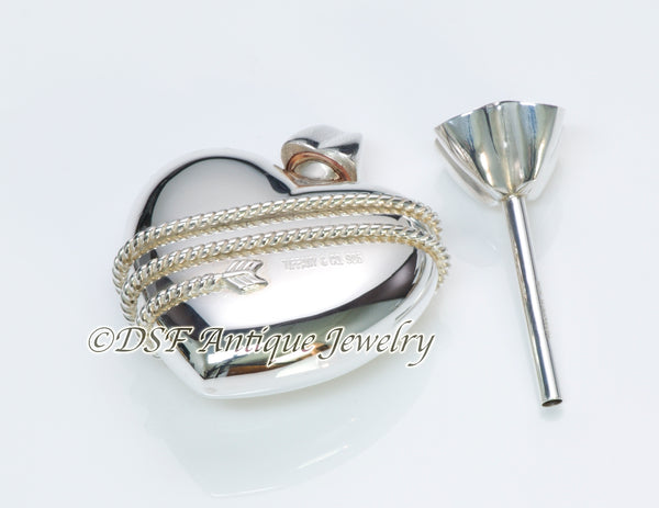 Tiffany & Co. Silver Heart Perfume Bottle