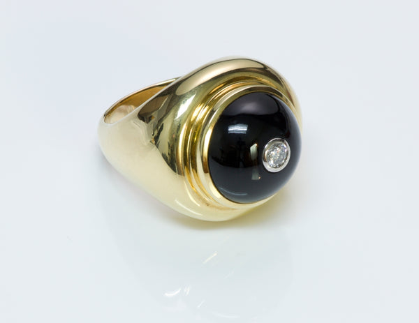 Tiffany & Co. Paloma Picasso Gold Diamond Onyx Ring
