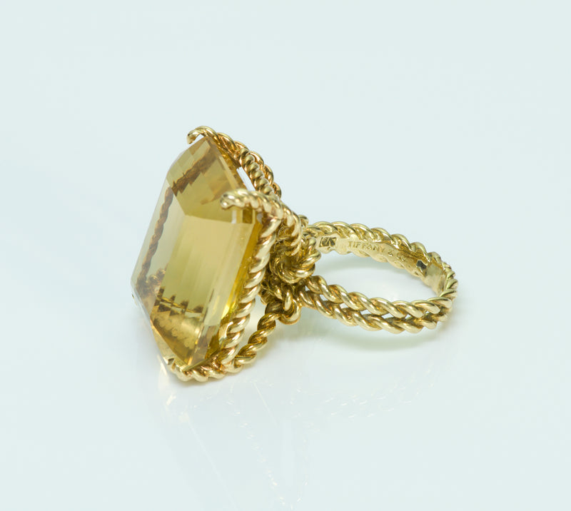 Tiffany & Co. Citrine Yellow Gold Ring