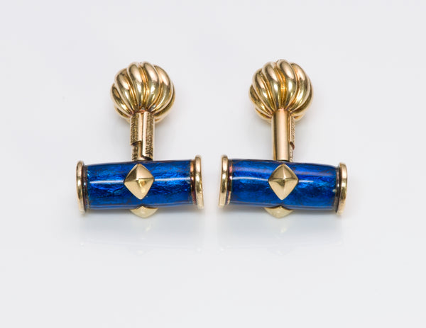Tiffany & Co. Schlumberger Enamel Cufflinks