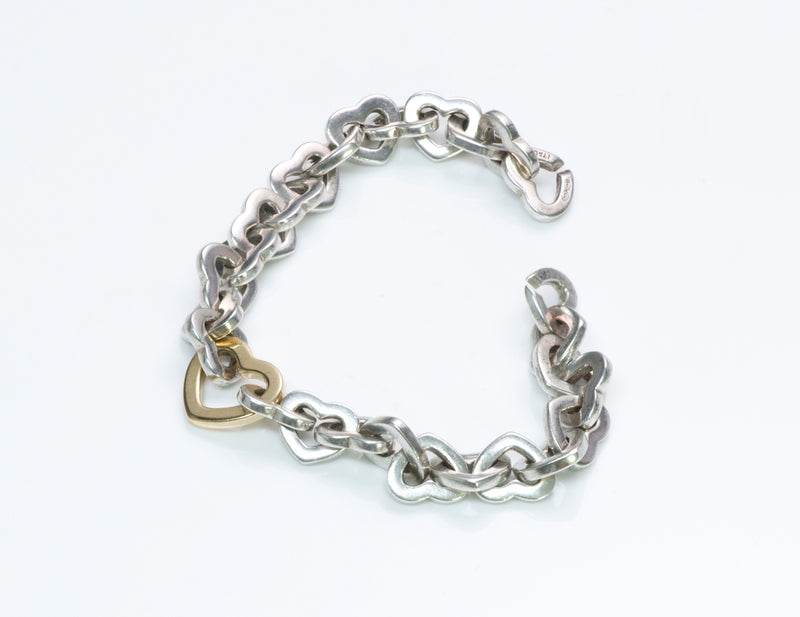 Tiffany & Co. Silver Gold Heart Bracelet