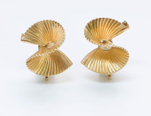 Tiffany & Co. Gold Swirl Earrings