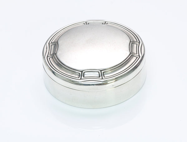 Vintage Tiffany & Co. Sterling Silver Round Box
