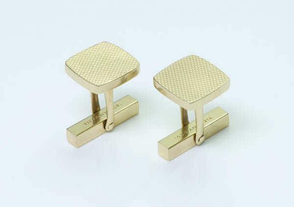 Tiffany & Co. Vintage 14K Yellow Gold Cufflinks