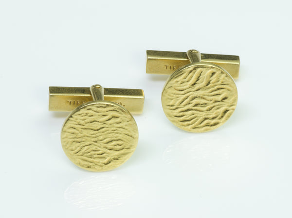 Tiffany & Co. Vintage 18K Yellow Gold Cufflinks