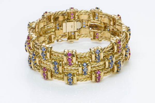 Tiffany & Co. Ruby 18K Gold Bracelet