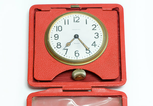 Tiffany & Co. Vintage Antique 8 Day Travel Clock