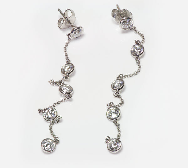 Tiffany Co. Elsa Peretti Diamonds Yard Drop Dangle Earrings
