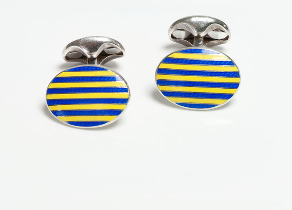 Tiffany Co. Enamel Cufflinks