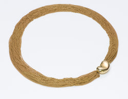 Tiffany & Co. Elsa Peretti Gold Multi-Chain Collar Bean Necklace