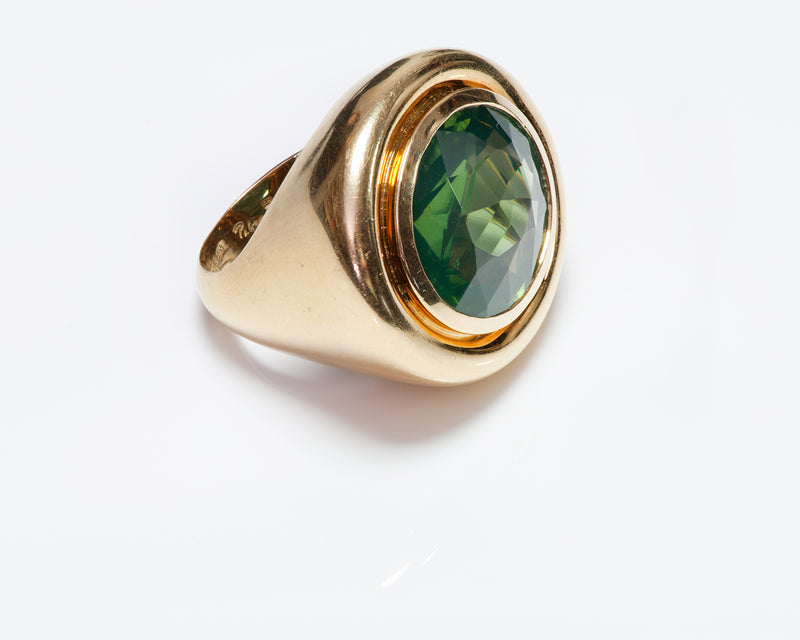 Paloma Picasso Tiffany Co Gold Peridot Ring