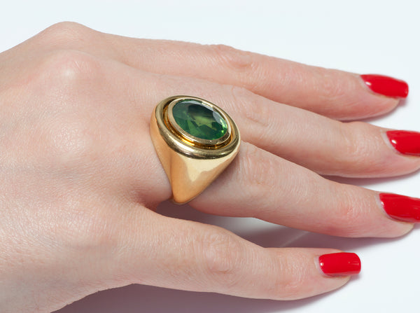 Tiffany Co Paloma Picasso Gold Peridot Ring
