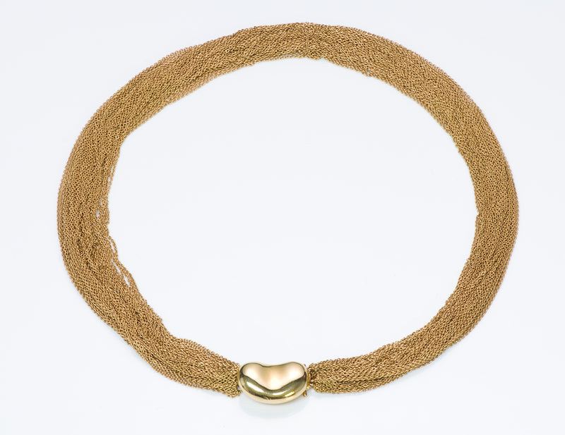 Elsa Peretti Gold Multi-Chain Collar Bean Necklace 5