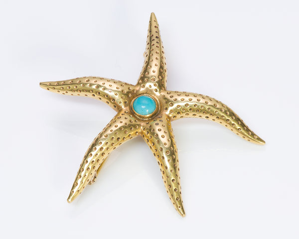 Tiffany & Co. 18K Gold Turquoise Starfish