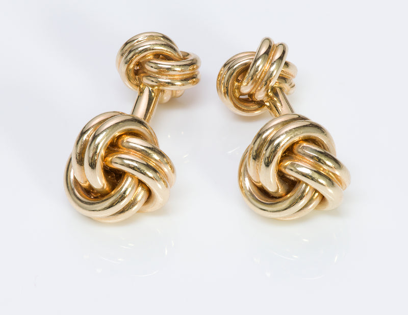 Vintage Tiffany & Co. Gold Double Love Knot Cufflinks