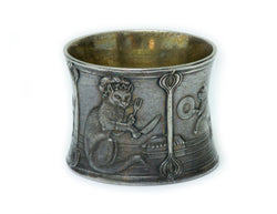 Antique Tiffany & Co. Sterling Silver Children's Cat Napkin Ring