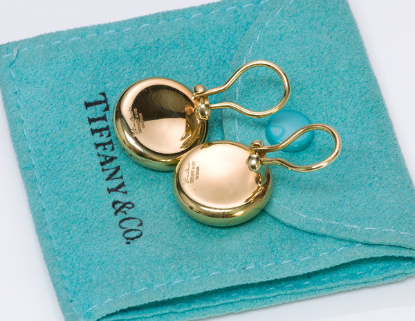 Tiffany & Co. Elsa Peretti Thumbprint Gold Earrings