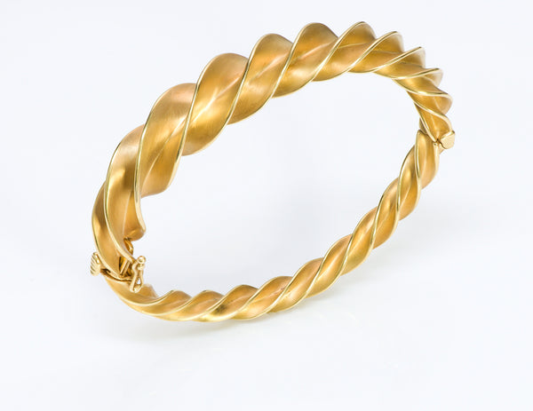 Tiffany & Co. Schlumberger Crazy Twist 18K Gold Bracelet