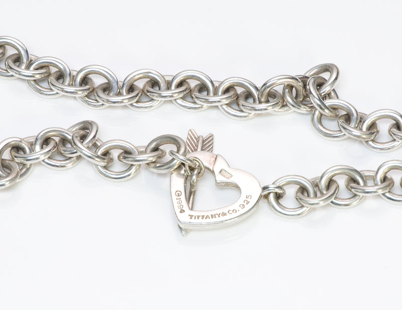 Vintage Tiffany & Co. Heart Arrow Toggle Sterling Silver Necklace