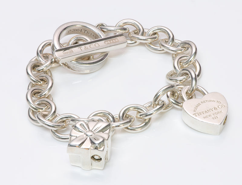 Tiffany & Co. 1837 Sterling Silver Toggle Charm Bracelet