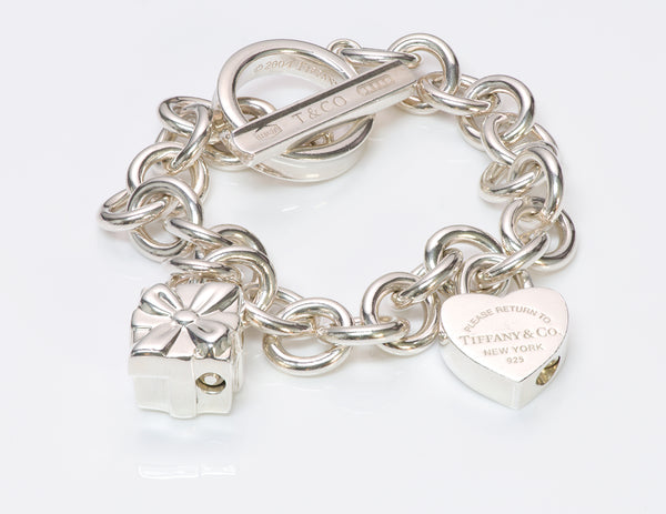Tiffany & Co. Sterling Silver Toggle Charm Bracelet