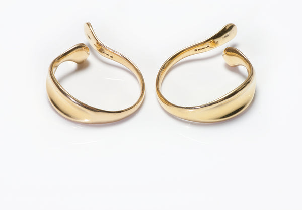 Tiffany & Co. Elsa Peretti 18K Gold Ear Cuff Earrings