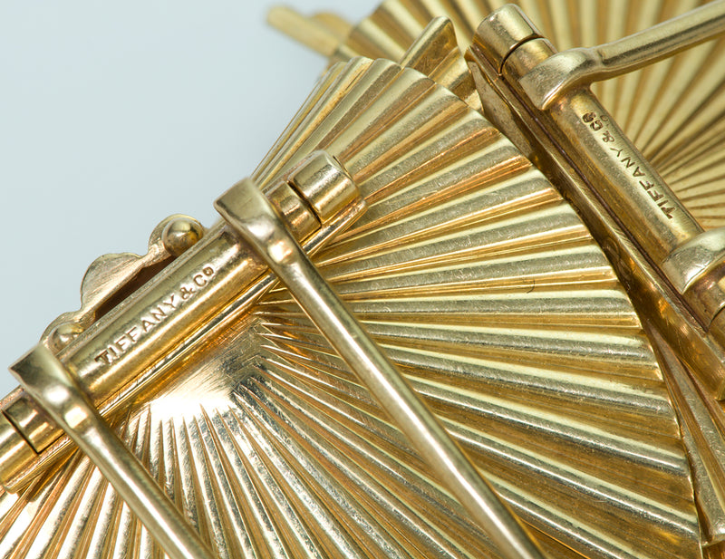Tiffany & Co. by George Schuler 14K Yellow Gold Fluted Clips 3