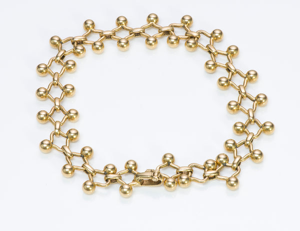 Tiffany & Co. France Paloma Picasso 18K Gold Link Bracelet