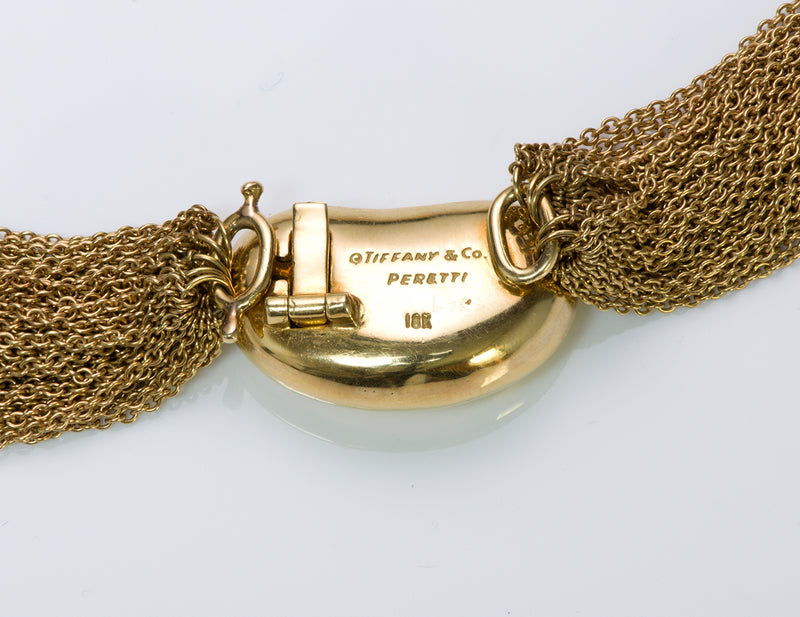 Tiffany & Co. Elsa Peretti Gold Multi-Chain Collar Bean Necklace 4