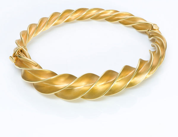 Tiffany & Co. Schlumberger Crazy Twist 18 Gold Bracelet