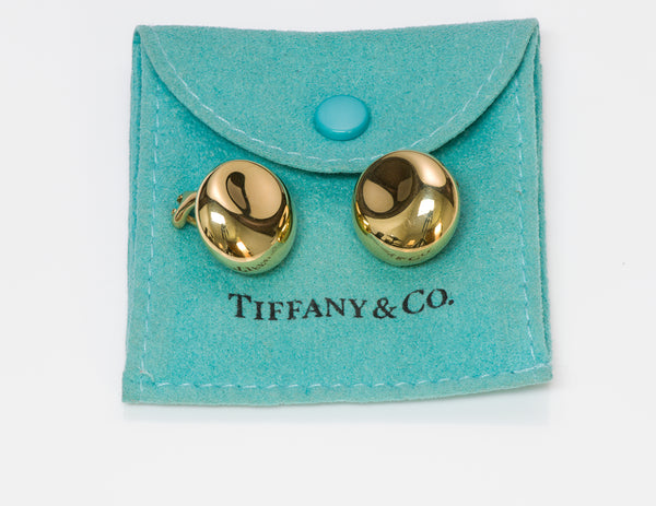 Tiffany & Co. Elsa Peretti Thumbprint 18K Gold Earrings