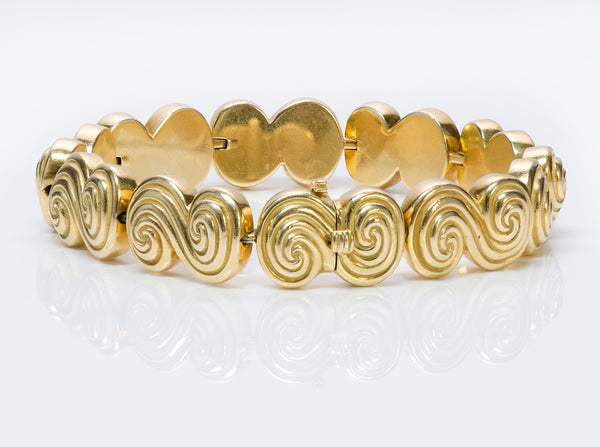 Tiffany & Co. 18K Yellow Gold Spiro Swirl Bracelet