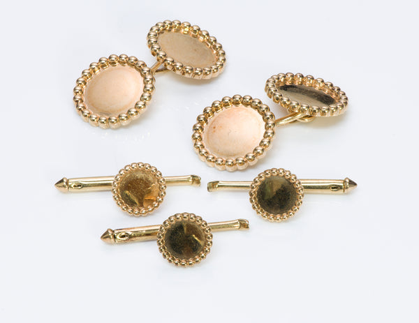 Tiffany & Co. Yellow Gold Cufflinks Stud Set