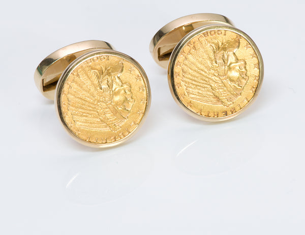 Tiffany & Co. 22K Gold US Coin Cufflinks