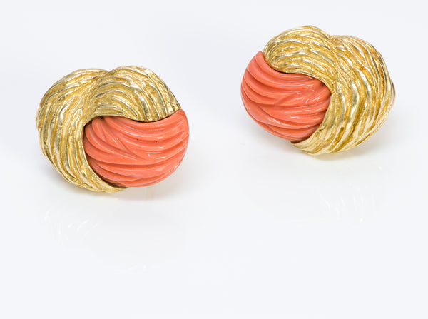 Tiffany & Co. Gold Coral Earrings