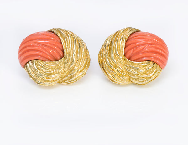 Vintage Tiffany & Co. Gold Coral Earrings