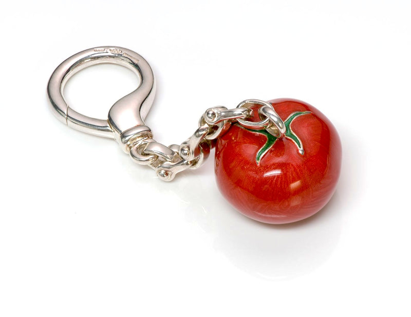 Tiffany & Co. Enamel Tomato Key Chain