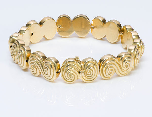Tiffany & Co. 18K Gold Spiro Swirl Bracelet