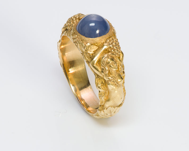Tiffany & Co. Antique 18k Gold Star Sapphire Ring