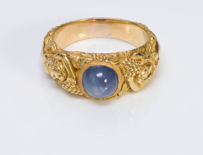 Antique Tiffany & Co. Gold Star Sapphire Ring